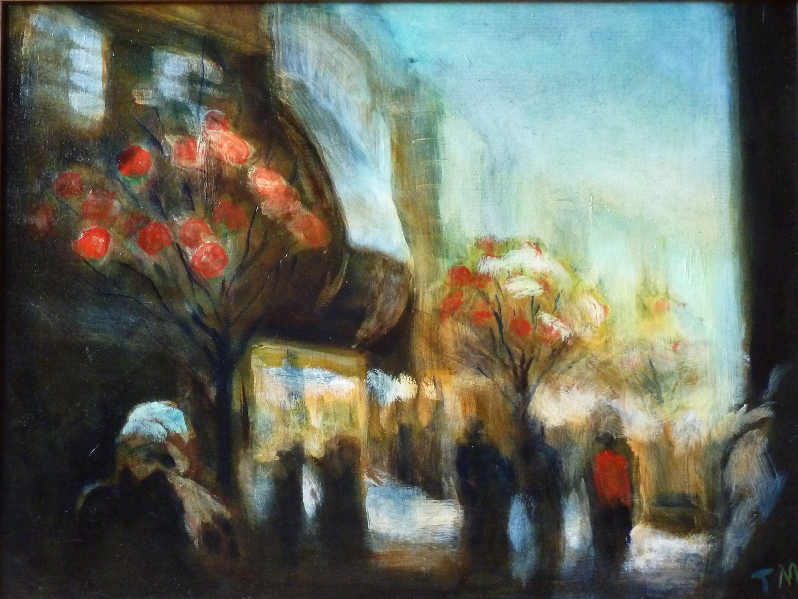 Urban Trees I. Manchester, Market Street (Chinese New Year).46x61cm